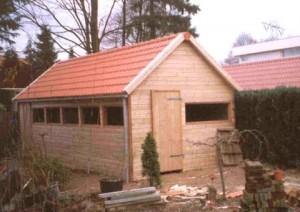 dubbelwandige garage 9x4 m
